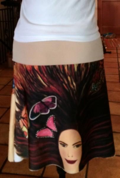 Backside of Skirt.
