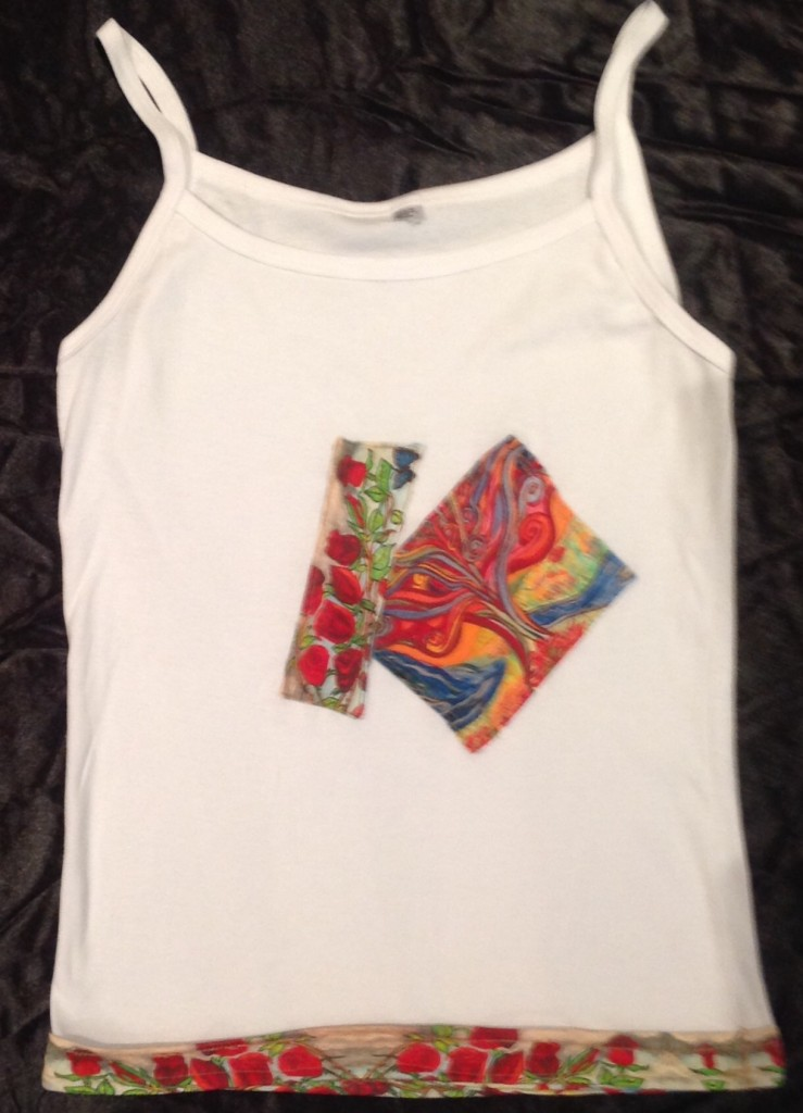 T-Shirt with Mulberry Tree and Roses