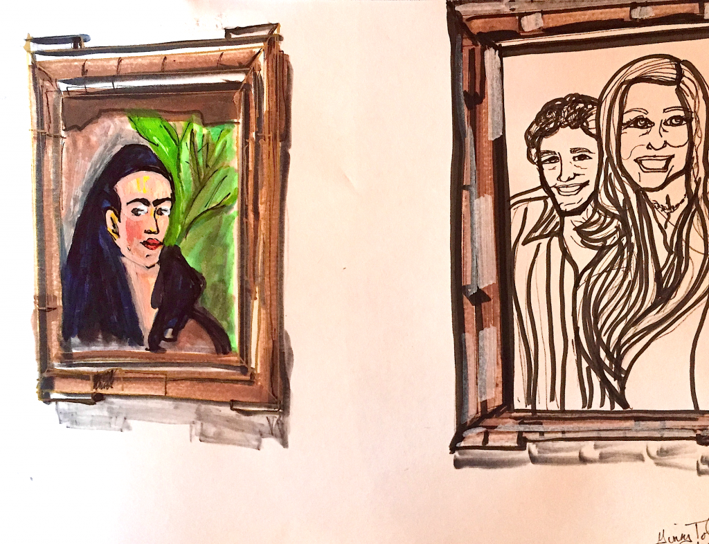 Sketch with Markers.  Ginny Jon & Frida