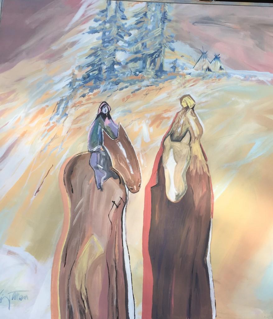 "36""x36"" Acrylic Painting by Vano Wirta"
